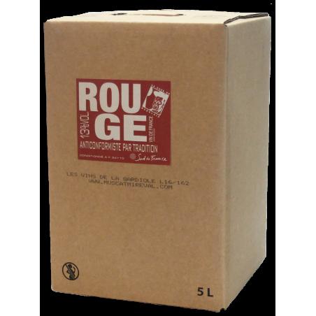 Vin de France rouge BIB 5L
