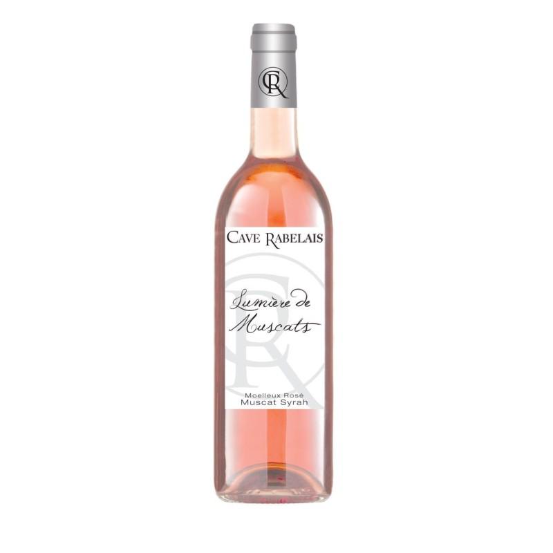 Lumière de Muscats - Vin rosé moelleux - IGP Hérault - Cave de Rabelais