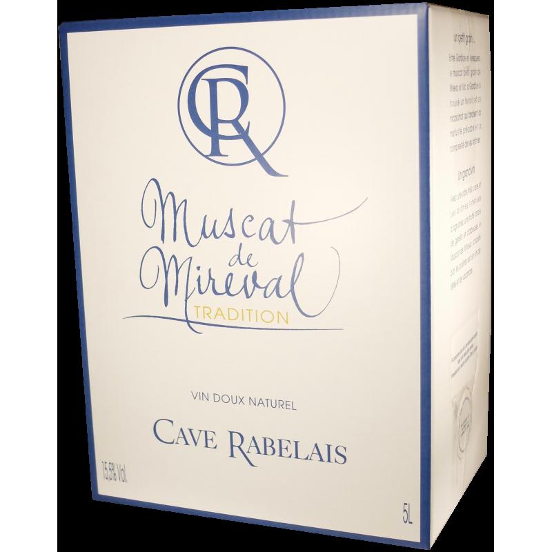 Muscat Tradition - AOP Muscat de Mireval - Cave de Rabelais - Bag-in-Box® de 5 litres