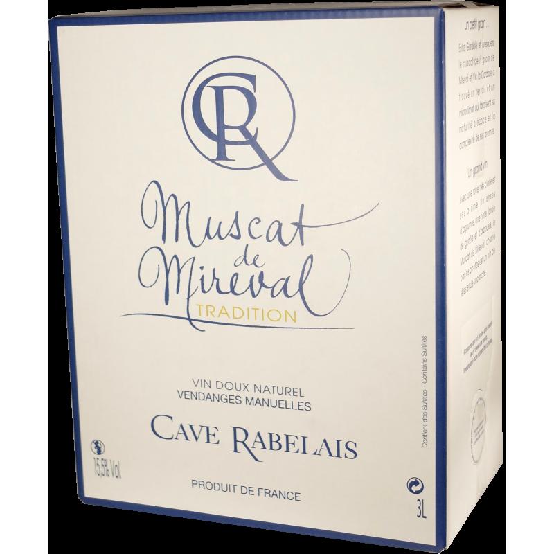 Muscat Tradition - AOP Muscat de Mireval - Cave de Rabelais - Bag-in-Box® de 3 litres