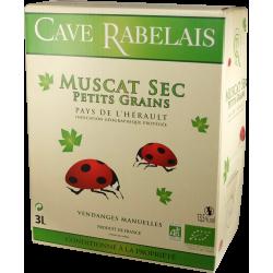 Muscat Bio - AOP Muscat de Mireval - Cave de Rabelais - Bag-in-Box® de 3 litres