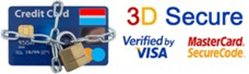 3D Secure verified by Visa / MasterCard SecureCode